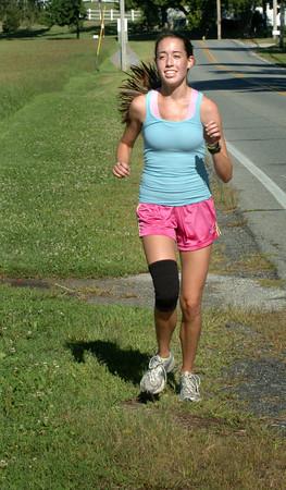 Amesbury: Renee Vignault is co-captain of the Amesbury High cross country team. Bryan Eaton/Staff Photo