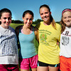 Amesbury: Some key cross country runners are returning at Amesbury High this year, from left, Emily Pugh, Renee Vignault, Sarah McCullough and Julie Schlich. Bryan Eaton/Staff Photo