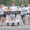 Newburyport: One of two teams from the Old South Church at the annual Yankee Homecoming Bed Race. Jim Vaiknoras/Staff photo