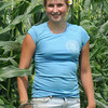 "Amesbury: Ally Scholtz in the corn field at the Cider Hill Farm in Amesbury, she has been named one of the state's ""fab five"" rising farming stars by the state Department of Agricultural Resources,JIm Vaiknoras/staff photo"