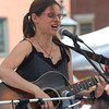 Newburyport: Susan Levine plays in Market Square Friday afternoon. JIm Vaiknoras/staff photo
