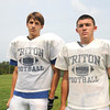 Byfield: Triton football captains Connor Barry and Joe Ruocco. Jim Vaiknoras/staff photo