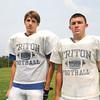 Byfield: Triton football captains Connor Barry and Joe Ruocco. Jim Vaiknoras/staff photo