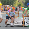 Newburyport: Simply Sweet got a little creative with a couple of spin moves at the annual Yankee Homecoming Bed Race. Jim Vaiknoras/staff photo
