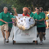 Newburyport: The Oregano Pizza bed at the annual Yankee Homecoming Bed Race. Jim Vaiknoras/staff photo