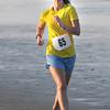Salisbury: Molly Potter is the first woman finisher at the annual Salisbury Life Guard 5 mile run on Salisbury Beach . Jim Vaiknoras/staff photo