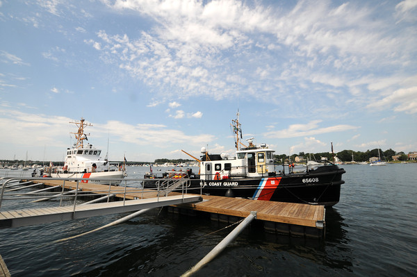 Newburyport: The USCGC Hammerhead and Pendant are docked in the Merrimack River behind the Maritime Museum. Jim Vaiknoras/staff photo