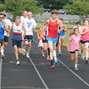 Newburyport: Runners take of in the 2 mile at the River Rival Grand Prix Track series at the Fuller Field in Newburyport Tuesday night. Jim Vaiknoras/staff photo