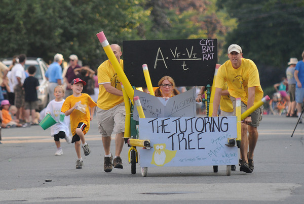 Newburyport: The Tutoring Tree bed at the annual Yankee Homecoming Bed Race. Jim Vaiknoras/staff photo