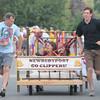 Newburyport: The Newburyport High School team at the annual Yankee Homecoming Bed Race. Jim Vaiknoras/staff photo