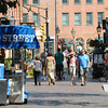 Newburyport: People enjoy beautiful weather as they walk on Inn Street in Newburyport Sunday. Jim Vaiknoras/staff photo