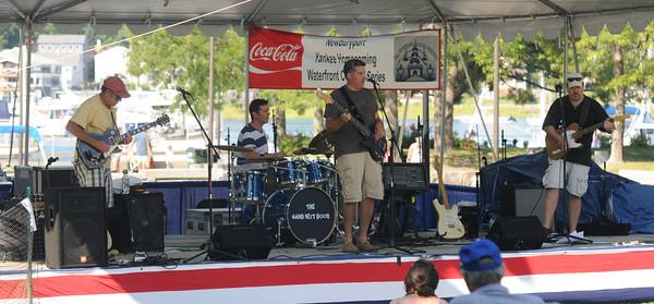 Newburyport: The Band Next Door perform at the Market Landing Park stage Friday. Jim Vaiknoras/staff photo