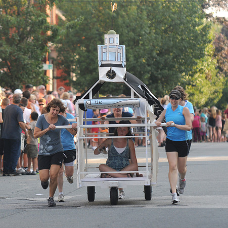 Newburyport: The Old South Church team at the annual Yankee Homecoming Bed Race. Jim Vaiknoras/staff photo