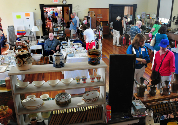 Newburyport: The 48th Annual Antique Show fills up the inside of the Belleville Congregational Church as well as the grounds outside. Bryan Eaton/Staff Photo