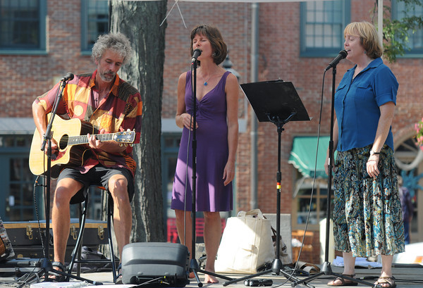 Newburyport: The North River Trio performs at the Market Square stage Friday. Jim Vaiknoras/staff photo