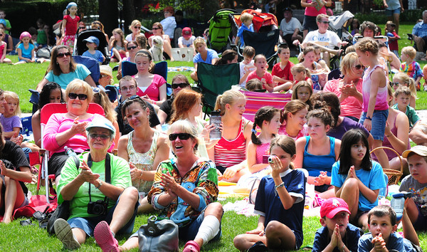 Newburyport: Spectators at the Kids Talent Showcase clap to one of the songs being performed yesterday afternoon. Bryan Eaton/Staff Photo