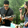 "Newburyport: ""Sierra and Andrew"" hit the Boston scene as a songwriting duo in the fall of 2009 and performed at the Market Square stage yesterday  afternoon for the Yankee Homecoming Downtown Entertainment Series. Bryan Eaton/Staff Photo"