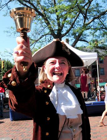 Newburyport: This year's Yankee Homecoming Town Crier is Pamela Rankin. Bryan Eaton/Staff Photo