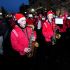 Amesbury:The Amesbury high school band makes their way down Main Street as a light snow falls at the annual Amesbury Parade Saturday.. Jim Vaiknoras/staff photo