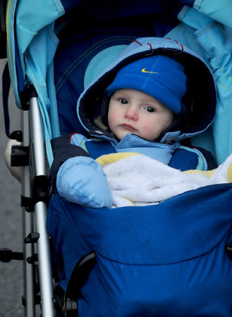 Amesbury: Jonathan Boyd enjoys his first Santa Parade in Amesbury Saturday afternoon. He was there with his parents Joshua and Nicole Boyd of Amesbury. Jim Vaiknoras/staff photo