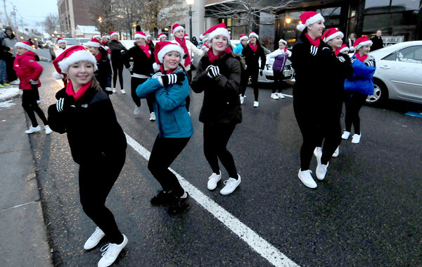 Amesbury: Dancers from Agnes Strecker Dance Studio perform during the annual Santa Parade in Amesbury Saturday afternoon. Jim Vaiknoras/staff photo