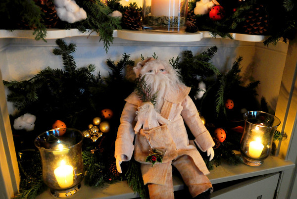 Newburyport: A doll of old St. Nick at the built in hutch of Meg Wiley. Bryan Eaton/Staff Photo