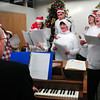 Newburyport: The debut of the chorus at Opportunity Works made their first performance on Thursday during their annual Christmas Party. Bryan Eaton/Staff Photo