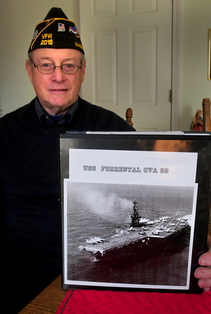 Merrimac: Henry Cross of Merrimac was aboard the USS Forrestal during the Vietnam Conflict. The ship experienced a massive fire that killed 134 people including Amesbury resident William Justin. Bryan Eaton/Staff Photo