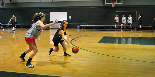 West Newbury: Pentucket High's girls basketball team practiced last night. Bryan Eaton/Staff Photo
