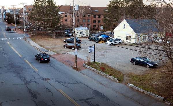 Newburyport: A nine unit condominium development called Mechanics Court is proposed for the site at right on Merrimac Street in Newburyport. Photo was taken from railroad bridge. Bryan Eaton/Staff Photo