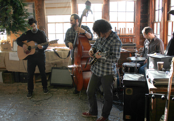 Amesbury:Morning Glories perform  at the Lowell's Boat shop Open House Sunday. Jim Vaiknoras/staff photo