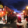 Newburyport: Santa greets kids as the annual Christmas Parade makes it's way up State Streetin Newburyport Saturday night.Jim Vaiknoras/staff photo