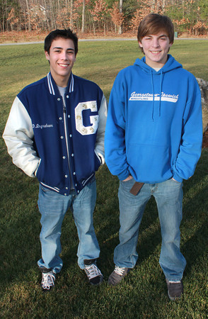 Georgetown: Georgetown wrestling seniors Chris Paquette and David Ingraham. Jim Vaiknoras/staff photo