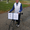 Newbury: Margaret Jeromean, 80-year old Newbury resident, on Nov. 29 completed riding 3,200 miles on her bike. She chose 3,200 because she was born in 1932. Jim Vaiknoras/staff photo
