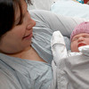 Newburyport: Kara Catucchia with her new daughter Zoey , who was born on 12-12-12 at the Anna Jaques Hospital in Newburyport. Jim Vaiknoras/staff photo