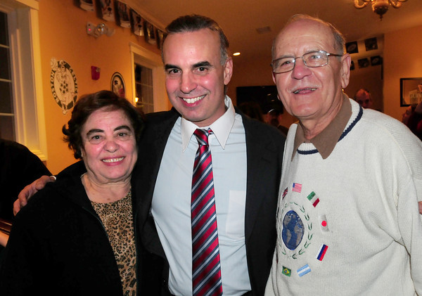 Georgetown: Lenny Mirra poses with his parents Gilda and Antonio of West Newbury. Bryan Eaton/Staff Photo