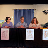 "Georgetown: Lorrie A Dispenza, Geal Nappa, Chris Dollas, Eva Toscano and Lou Dispenza in the Georgetown Theater production of ""Poison Pen Letters"". JIm Vaiknoras/staff photo"