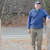 Salisbury:Jerry Klima stands at the end of the Salisbury Point Ghost Trail on Rabbit Road. Jim vaiknoras/staff photo