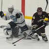 Stoneham: Newburyport'sCameron Roy takes a shot on net against Wilmington at Stoneham Arena. Jim Vaiknoras/staff photo