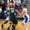 Stoneham: Pentucket's Tim Freirmuth grabs a rebound during the Sachems game at Stoneham Saturday night. Jim Vaiknoras/staff photo