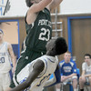 Stoneham: Pentucket's Calvin Wiles leans in for a basket during the Sachems game at Stoneham Saturday night. Jim Vaiknoras/staff photo