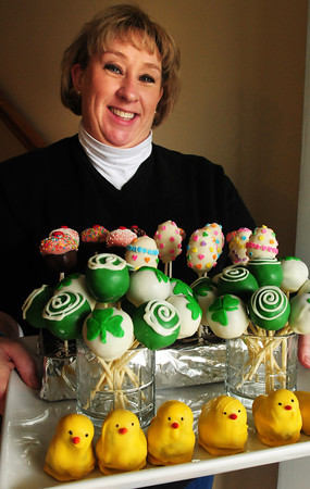 Merrimac: Kathy Terceiro creates an assortment of cake pops in her Merrimac home. Bryan Eaton/Staff Photo