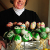 Merrimac: Kathy Terceiro creates an assortment of cake pops in her Merrimac home. Bryan Eaton/Staff Photo
