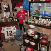 Salisbury: Only part of the large collection of Patriot's memorabilia can be shown in this photo collected by fan Jay Sullivan of Salisbury. Bryan Eaton/Staff Photo
