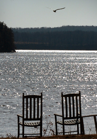 Amesbury: What could be a summer scene of sunlight glistening off the Merrimack River at Point Shore in Amesbury is still a couple months off, though March arrives on Thursday but with possibly up to six inches of snow. Bryan Eaton/Staff Photo