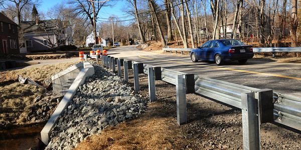 Merrimac: The bridge over Cobbler's Brook in Merrimac on River Road at Middle Road has finally reopened to traffic after being rebuilt. Bryan Eaton/Staff Photo