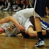 Newburyport: Newburyport's Alex Losh scrambles with a loose ball with Georgetown's Angel Sanquintin. Bryan Eaton/Staff Photo