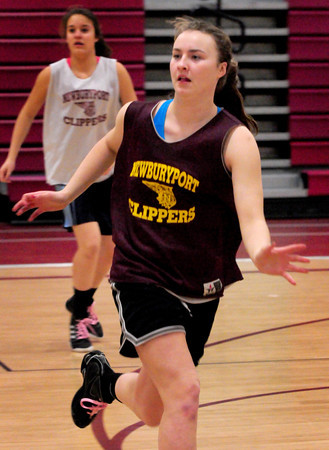 Newburyport: Lilly Donovan playes defense in practice. Bryan Eaton/Staff Photo