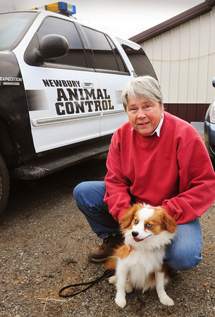 Newbury: Carol Larocque, with he pooch Takoda, will become shared by Newburyport and Newbury as animal control officer with an assistant in each jurisdiction. Bryan Eaton/Staff Photo
