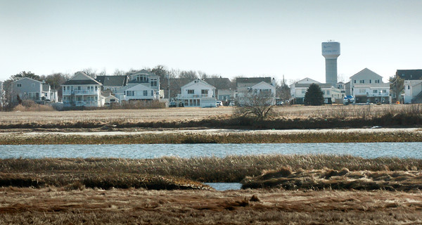 Salisbury: During extreme storms and tides, the marsh side of Salisbury Beach often floods especially around Tenth, Eleventh and Twelfth Streets. Bryan Eaton/Staff Photo